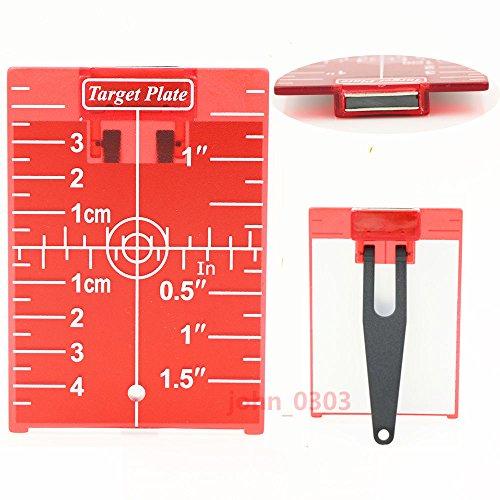 Rot Magnetische Zielscheibe Teller mit Bein für Laser Level Meter Kreuz Line