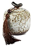 MAOCI - Teedose/Zuckerdose Porzellan 200ml marmorweiss