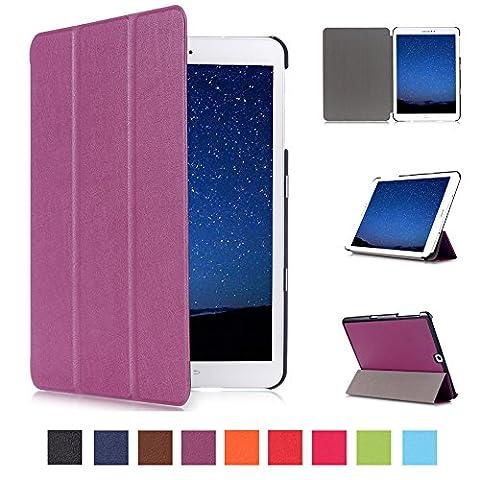 Skytar Coque de Protection pour Tab S2 9.7 - Flip Style Case Cover PU Cuir Etui à rabat Coque Pochette pour Samsung Galaxy Tab S2 9.7 Pouces SM-T810/T813/T815/T819 Tablette Housse de Protection,Violet