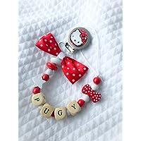 Catenella porta ciuccio Hello Kitty | nome personalizzabile
