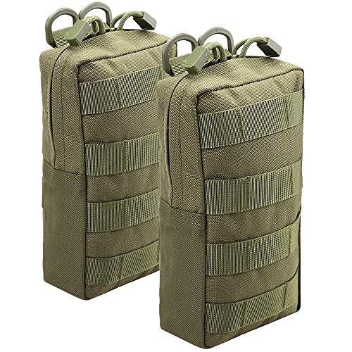 Magarrow Tactical Molle Pouch Taille Hängetasche, Zubehör Halter, Green- 2pcs -