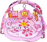 Gimnasio con alfombra musical de juegos y actividades para bebé - Diseño flor rosa