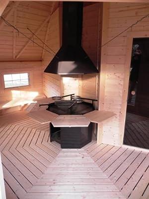 SGK165 Kombi Sauna- & Grillkota - Deluxe mit 16,5m² Grundfläche von FASSWELT - Du und dein Garten