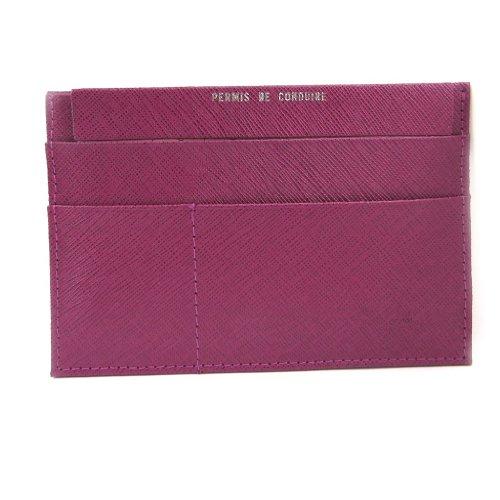 Frandi [L3441] - Porte Papiers de voiture Cuir 'Frandi' violet (ultra plat)
