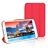 JETech Gold Slim-Fit Smart Case Cover for Samsung Galaxy Tab 4 8.0 (8 Inch) Tablet PC with Auto Sleep/Wake Feature (Red)