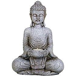 Meditación Estatua de Buda con tealightcandleholder