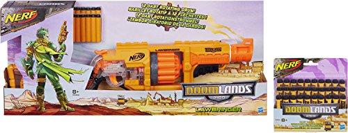 Preisvergleich Produktbild Nerf Doomlands 2169 Lawbringer Enforcer Kit: Lawbringer + 30 Original Darts