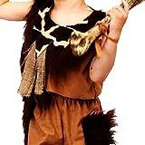 Kinderkostüm Steinzeit Junge Gr. 116 Kleid braun Neandertaler Urmensch Karneval
