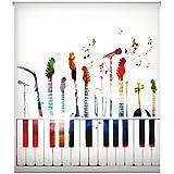 Blindecor W-J-16807 - Estor enrollable translúcido, estampado digital, 150 x 180 cm, multicolor
