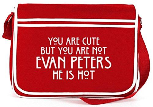 Shirtstreet24, AHS - You Are Cute, Retro Messenger Bag Kuriertasche Umhängetasche Rot