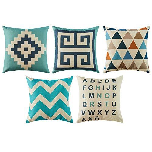 Top finel morbido federe cuscini vintage di stampato copertura per divano decorativi letto arredo di 5, 45x45 cm,serie