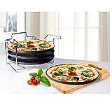 Pizzabackset 5 tlg. mit Staender Pizza 4 Backbleche