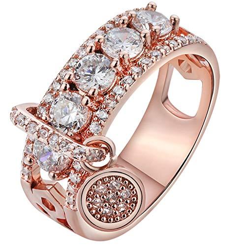 Lookhy Ringe, Kreative Voller Diamanten Multicolor Ring Damenschmuck Freundschaftsringe Verlobungswelle Ringe Für Frauen Mädchen Hochzeit Liebe Knoten Ring Set Strand Ozean Ring