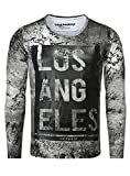 True Prodigy Herren Longsleeve LOS ANGELES Vintage Look USA Amerika Farbverlauf Flecken