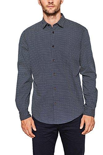 ESPRIT Herren 087EE2F015 Freizeithemd, Blau (Navy 2 401), 42 (Herstellergröße:M)