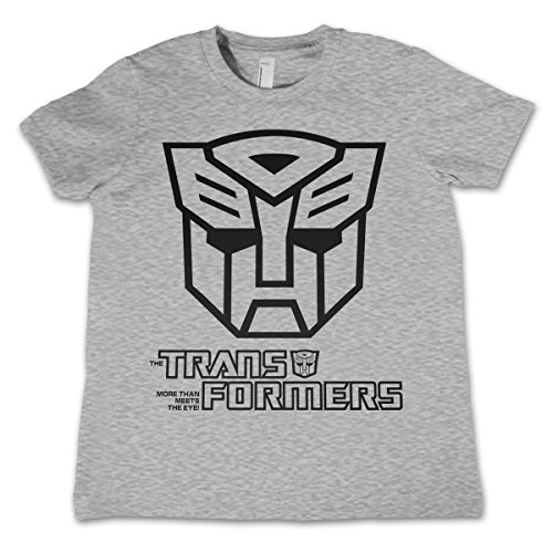 Officially Licensed Merchandise Autobot Logo Unisex Kids T Shirts - H.Grey 7/8 Years