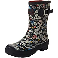 Joules Women's Molly Welly Rain Boot, Black