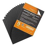 Magicfly Feuille Adhésive Magnétique A4 Autocollante Plaque Aimantée Flexible pour Photos d'Artisanat DIY Couper Art (203mm x 254mm, 15pcs)
