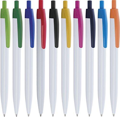 100 pezzi penne personalizzabili personalizzate con nome logo o slogan gadget promozionali - blossom pd485 - stampa 1 colore