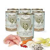 AniForte® PureNature Nassfutter 400g Land Chicken Hundefutter- Naturprodukt für Hunde (Zartes Huhn, 6x400g)