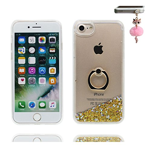 "Hülle iPhone 6 Plus, iPhone 6S Plus Handyhülle Cover (5.5""), [Liquid Fließendes Glitzer Bling Bling Floating sparkles] iPhone 6 Plus Case Shell (5.5"") Ring Stand Anti-Beulen & Staubstecker # 3"