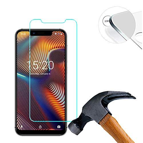 Lusee 2 X Pack Panzerglasfolie für UMIDIGI A3 Pro 5.7 Zoll Tempered Glass Hartglas Schutzfolie Folie Bildschirmschutz 9H (Nur den flachen Teil abdecken)