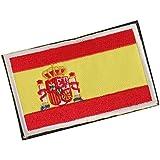 España Español Bandera Gancho Bordado Táctico Placa De Sujeción De Bucle