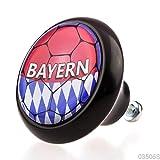 Designer Keramik Möbelknopf Möbelknauf Möbelgriff 03506S Schwarz Fußball Bundesliga Bayern