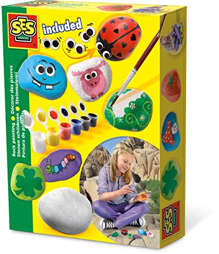 SES Creative 14818 Children's Rock Painting Kit