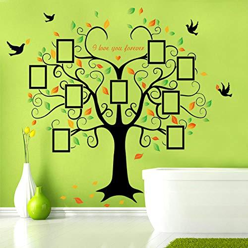 Große Stammbaum Herzförmigen Fotorahmen Wandaufkleber, Ich Liebe Dich Für Immer Vogel Aufkleber Wandkunst, Home Decor Abnehmbare