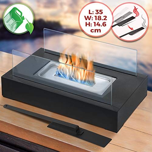 Quemador de doble pared de acero inoxidable de forma natural bio etanol chimeneas de gel combustible XXL aprox 2/ litros
