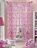 Original Disney Mickey & Minnie Mouse 1 St.XXL Fertig-Schlaufenschal/Gardine/Vorhang L 290cm x B 140cm Pink NEU 2013