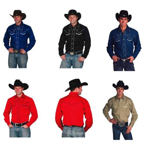 Western Express–Hemd Abschlussballkleid–mit Tasten–