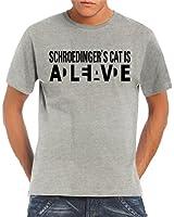 Touchlines Herren T-Shirt Schroedingers Cat Wanted