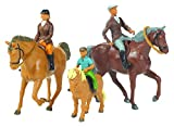 Picture Of Britains 1:32 Horse and Riders - Scale Horse Riders Set - Collectable Farm Toy Accessories - Suitable From 3 years