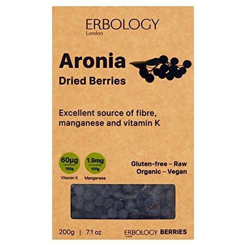 Bacche di Aronia Secche Bio 200g - Ricco di Antocianine - Potente Antiossidante