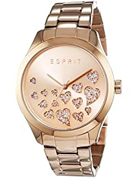 Esprit Damen-Armbanduhr Esmee Analog Quarz Edelstahl, roségold, ES107282006