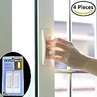 Shuxy 4 Stück Selbstklebe Sofortige Schublade Handhaben Sie Helfer Zusätzliche Küchenschranktür Fenstergriff Aufkleber Bequemes Öffnen Haftgriffe