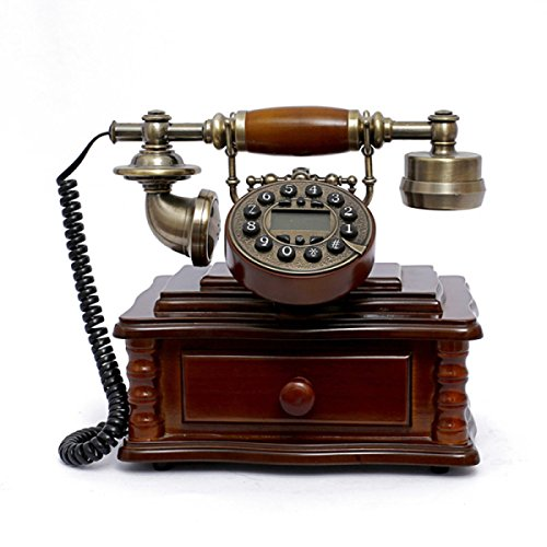 Mode Hochwertigen Antiken Telefon Europäischen Stil Nachahmung Holz Seil Retro Kreative Festnetz Antik Telefon - Traditionelle Holz-vitrine