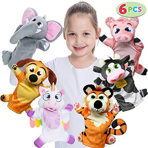 JOYIN 6PCS Títeres Mano Marionetas Mano Animal Juguete
