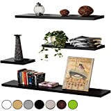 WOLTU RG9238ws-1-a Wandregal Wandboard Hängeregal Bücherregal , CD DVD Regal, MDF Holz, weiß, 60 cm lang