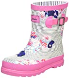 Joules Baby Girls Welly Standing Shoes, Blue (Pool Blue Stripe), 7 Child UK 24 EU