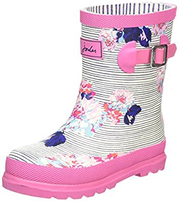 Joules Girls Welly Standing Baby Shoes, Blue (Pool Blue Stripe), 6 Child UK 23 EU