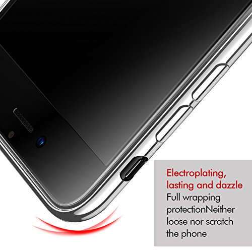 Coque iPhone 8, KKtick Housse Etui Transparente iPhone 8 Housse de Protection Ultra Mince TPU Silicone avec Absorption de Choc et Anti-Scratch Case pour Apple iPhone8/ iPhone 7(Transparent) argent