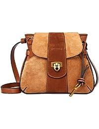 Women's Leather Handbags Simple Shoulder Handbag Saddle Bag Retro Lady Bag By JiYe
