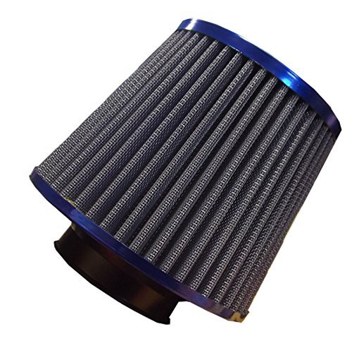 universal-blue-finish-car-air-filter-induction-kit-high-power-sports-mesh-cone