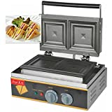 hanchen Instrument? 2teilig Commercial Elektro Panini Press Backofen Sandwich Maker Pfanne Brot Toaster Waffeleisen (fy-113a 220V)
