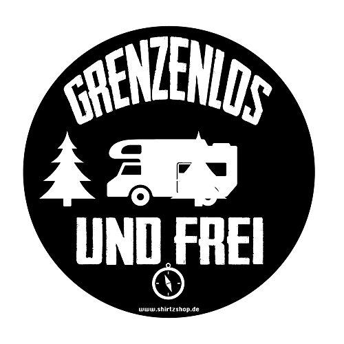 Camper Grenzenlos und frei Wohnmobil Wohnwagen Caravan Aufkleber Autoaufkleber Sticker Vinylaufkleber Decal