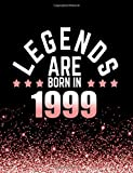 Legends Are Born in 1999: Birthday Notebook/Journal for Writing 100 Lined Pages, 1999 Birthday Gift for Women, Keepsake (Pink & Black)