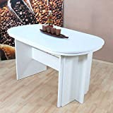 Pharao24 Ovaler Esstisch mit Mittelauszug Weiß